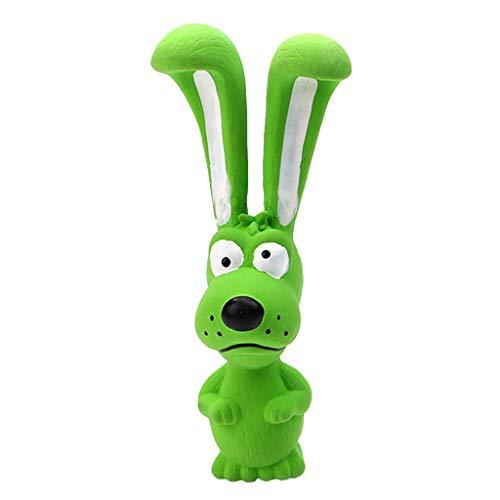 ECMQS 1 stück Spielzeug Für Hunde, Schreien Gummi Kaninchen Spielzeug Für Hunde Latex Squeak Squeaker Chew Ausbildung Produkte (Grün)