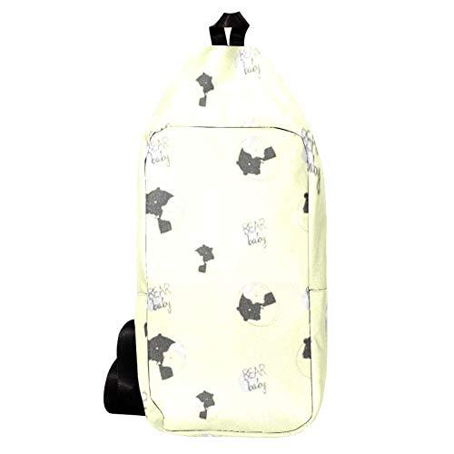 EZIOLY Baby Bear Snoring Shoulder Backpack Sling Bag Crossbody Bag Travel Hiking Daypack for Men Women