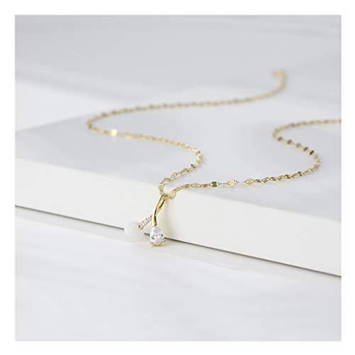 zxb-shop Collares Collar Mujer Sterling Silver Simple Luz Salvaje Lujo Niche Sense...