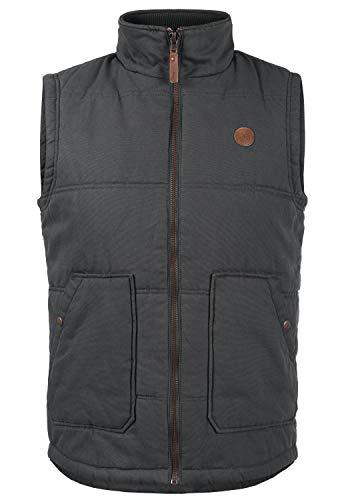 !Solid Fredolin Herren Weste Outdoor-Weste mit Stehkragen Aus 100% Baumwolle, Größe:XL, Farbe:Forged Iron (2820)