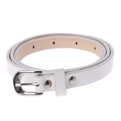 Simdoc Kids PU Leather Belt, Leisure Waist Strap Fashion Pin Buckle Black Belt For Children Boys Girls