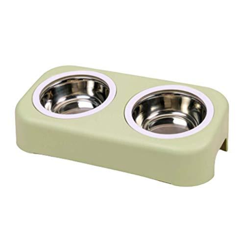 KKUUNXU kleine Hundenapf,Welpen Antischling Haustier Interaktiv Slow Feed Essen Schüssel Haustier Geschirr Schüssel Cartoon Edelstahl Topf Kunststoff Schüssel