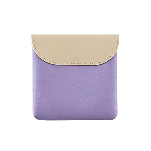 Bolsa de Almacenamiento de servilleta Sanitaria de Gran Capacidad portátil, Organizador de Monedero de Bolsa de Almacenamiento de Maquillaje(Purple)