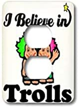 3dRose Lsp_105683_6 I Believe in Trolls 2 Plug Outlet Cover