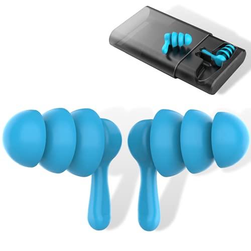 Tapones oidos ruido para dormir y natación - Auriculares con silicona anti ruido (Contiene dos pares de unidades) - Tapones para estudiar