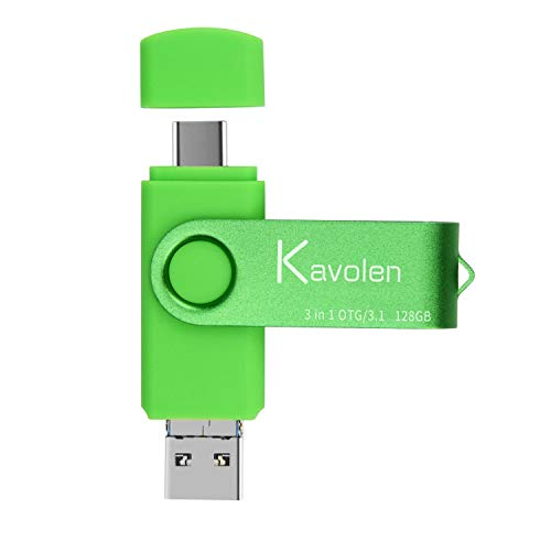 3 in 1 32/64/128/256/512GB Flash Drive 3.1 High Speed Type-C&Micro & USB A OTG Memory Stick for PC,Laptop ,Phones,Photo Stick for Samsung Galaxy ,LG,Google Pixel,Hua Wei,Moto,One Plus etc