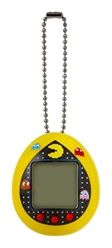 TAMAGOTCHI BANDAI 42851 Nano-Pac-Man Yellow Version-Feed, Care, Nurture, with Chain for on The Go Play-Electronic Pets