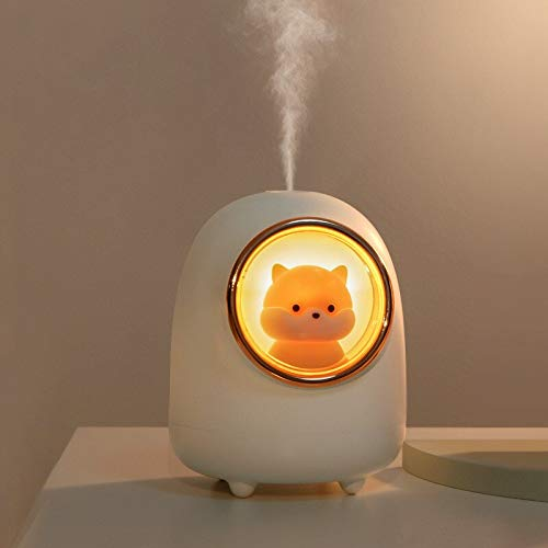 Quality 350ML Evaporative Air Humidifier Wireless Space Capsule Cute Cat/Small Hamster Mist Maker...