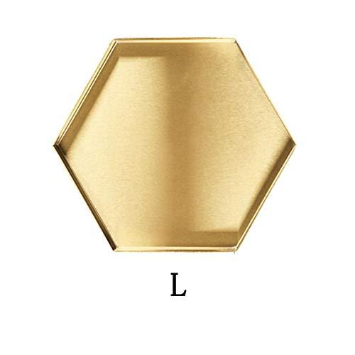 earlyad Edelstahl Nordic Geometric Gold Tablett, Desktop Make-up Spiegel Metall Aufbewahrungsbox, Mehrzweck Metall Dekorative Desktop-Tablett, In Esstischen, Küchen, Badezimmern Und Cost-Effective