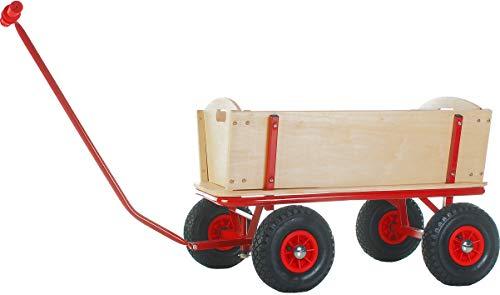 TrendLine Bollerwagen Bubi PU Holz Handwagen Transportwagen Gartenwagen