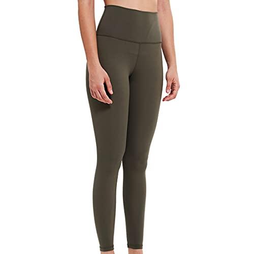 Leggings para gimnasio de cintura alta para mujer, control de abdomen, longitud de yoga para gimnasio, yoga, entrenamiento, correr costuras elásticos, para entrenamiento de gimnasio, para corr