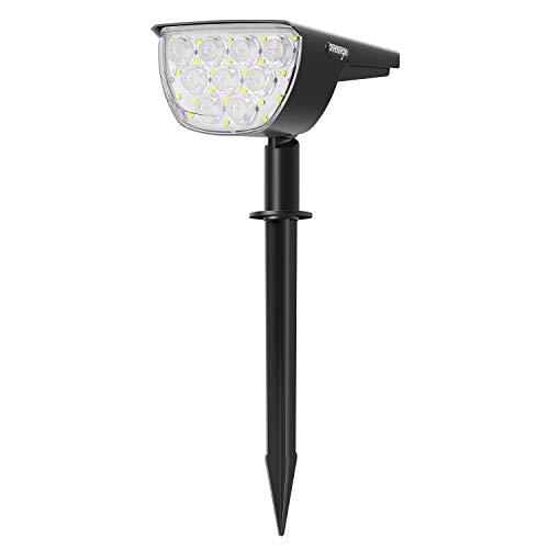 Innosinpo - Lote de 30 bombillas solares con lente impermeable IP67, proyector solar inalámbrico con panel solar 180°, iluminación exterior para jardín, patio, camino, camino