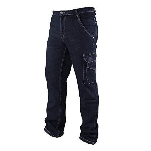 Goodyear Herren Workwear Gypnt030 Mens Multi Pocket Safety Stretch Carpenters Cargo Work Jeans Pants Arbeitshose, Denim Blue, 30
