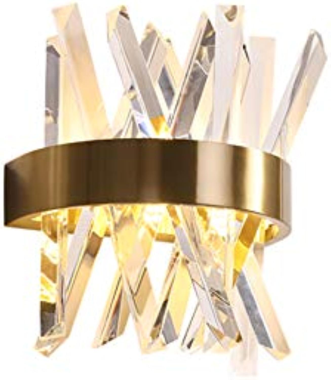 CUICANH Kristall Wandleuchte, Moderner Led Hardwirot Postmodernen Luxus Mode Nachttischlampe Wohnzimmer Schlafzimmer Restaurant Innen Licht Befestigungen-a 25x30x15cm