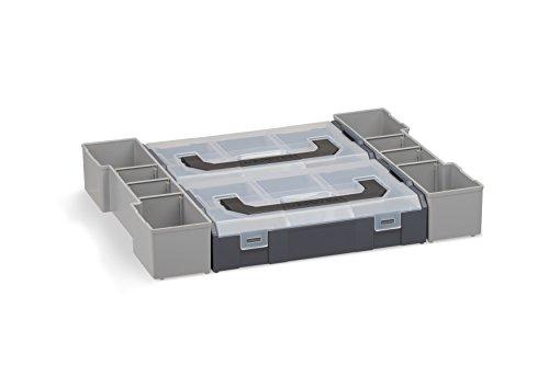 Aufbewahrungsbox Schrauben leer   Bosch Sortimo L-BOXX 102 Insetboxenset Mini   Erstklassige Sortierboxen für Kleinteile   Profi Werkzeugkoffer