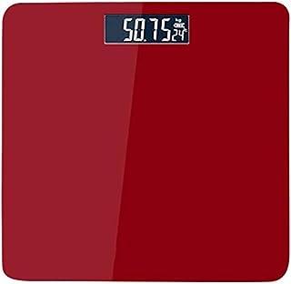 GJJSZ Báscula de Cuerpo Báscula de Cuerpo USB Báscula Negra Cuadrada Báscula de Carga Humana Báscula de Peso del hogar Báscula de Salud Conveniente