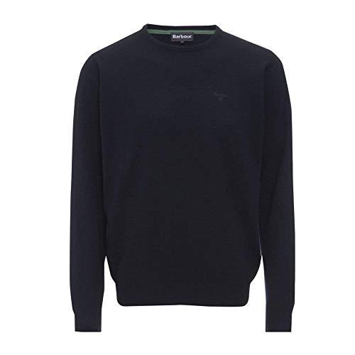 Barbour Jersey Essential de lana de cordero con cuello redondo para hombre,...