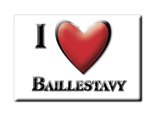 Enjoymagnets BAILLESTAVY (66) Souvenir IMANES DE Nevera Francia AQUITAINE IMAN Fridge Magnet Corazon I Love