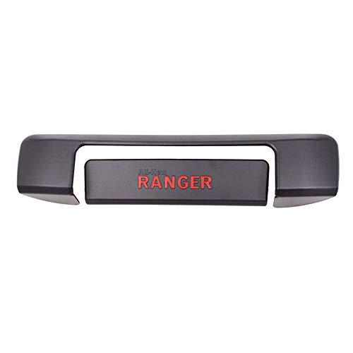 QQKLP Poignée de Porte arrière Couverture en Plastique ABS Noir Mat Tail Gate Protection Fitfor Ford Ranger 2012-2018 T6 T7 4 * 4 ramassage Accessoires,Noir