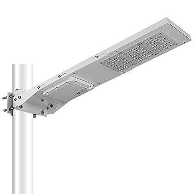 Gebosun LED Solar Street Light 120W,IP65 Waterproof White 6000K Solar Security Light Dusk to Dawn with Adjustable Mounting Bracket for Flag Pole,Yard,Area Lighting, Garden,Pathway