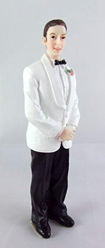 Maison De Poupées Miniature 1:12 Echelle Résine Personnages Homme dans Costume De Mariage Marié 8239