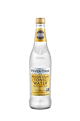 Fever-Tree Premium Indian Tonic Water, No Artificial Sweeteners, Flavourings or Preservatives, 16.9 Fl Oz (Pack of 8)
