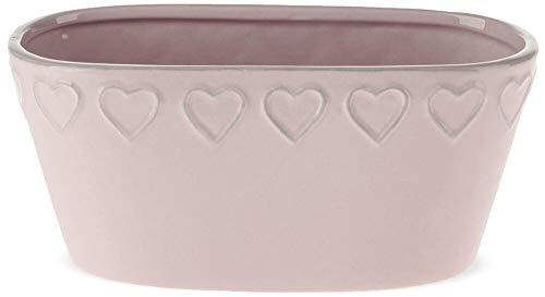 matches21 - Vasi ovali per Piante, in Ceramica, a Forma di Cuore, 18,8 x 8,5 cm, 2 Colori