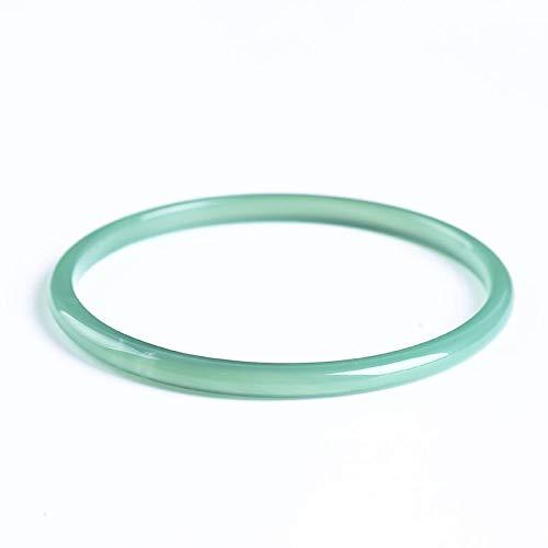 YDJGY Damen Jade Armreif, natürliches grünes Achat feines Armband Wild Fashion Chalcedon Kristall Armband