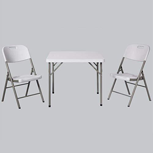 N/Z Tägliche Ausrüstung Klapptische Stühle Hocker Set Quadratische Plastikküche Party Picknickgarten Camping Mehrzweck 1 Klapptisch + 4 Stühle