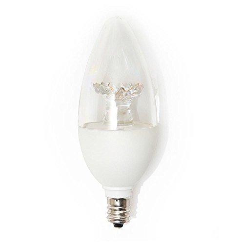 EcoSmart 40W Equivalent Soft White Clear LED Light Bulbs B11 Candelabra Base (3-Pack)