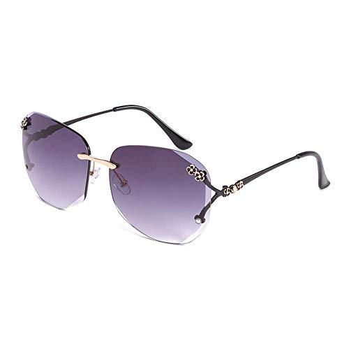 QYYTYJ rahmenlose Sonnenbrille, geschliffene Sonnenbrille, Gesichtslifting, weiblicher Augenschutz, UV-Schutz, ideal für Outdoor-Aktivitäten, B