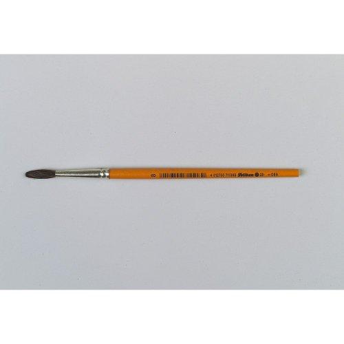 Pelikan 711069 pinceau d'artiste - Pinceaux d'artiste (Single brush, Brosse ronde, Crin de poney, Bois, Orange, Brosse ronde)