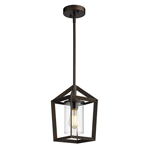 Emliviar 1-Light Cage Pendant Light, Vintage Hanging Pendant...