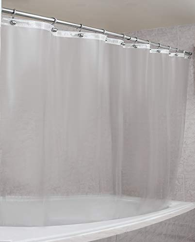 Epica Strongest Mildew Resistant Shower Curtain Liner on The Market-100% Anti-Bacterial 10 Gauge Heavy Duty Liner-Waterproof-72x72 Inches (Frosted)