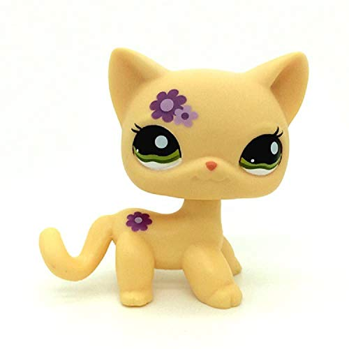 N/N Littlest Pet Shop, LPS Toy Rare LLPS Purple Flower Kitty Cat Green Eyes Toys
