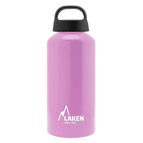 Laken Classic Botella de Agua Cantimplora de Aluminio con Tapón de Rosca y Boca Ancha, 0,6L Rosa