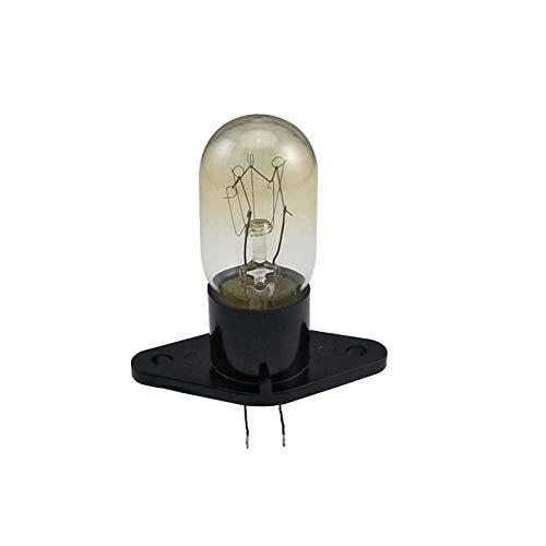 YJYQ Lámpara De Horno hasta 500° C,Luz De Horno 20W, Resistencia A Altas Temperaturas, Bombilla, con Portalámparas, para Horno, Microondas, Vaporera