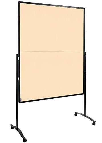 Legamaster 7-205110 Moderationswand Premium Plus, klappbar, höhenverstellbar im Hoch- oder Querformat, filzbespannt, beige