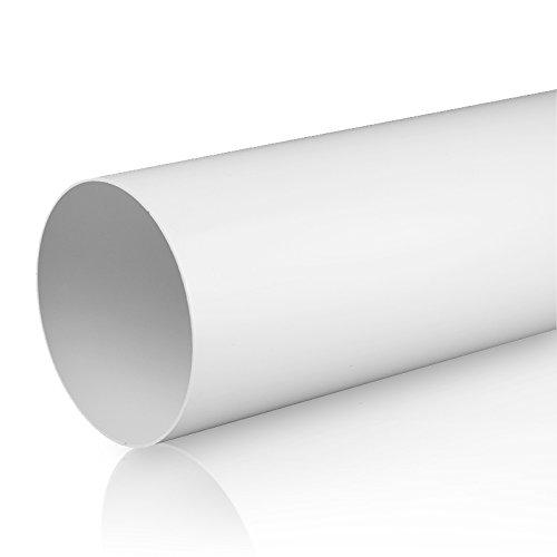 Rundrohrsystem PVC Lüftungsrohr Flexschaluch Bindeglieder Bogen Kniestück Verbinder Rückstauklappe T-Stück Reduktion Halter Adapter (Ø 150, Lüftungsrohr 0,5m)
