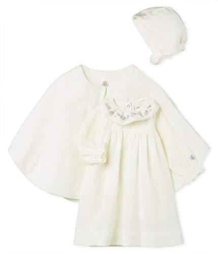 Petit Bateau Baby-Mädchen Lot Bekleidungsset, Weiß (Variante 1 00), 6-9 Monate