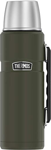 THERMOS Stainless King Vacuum-Insulated Beverage Bottle, 40 Ounce, Matte Green