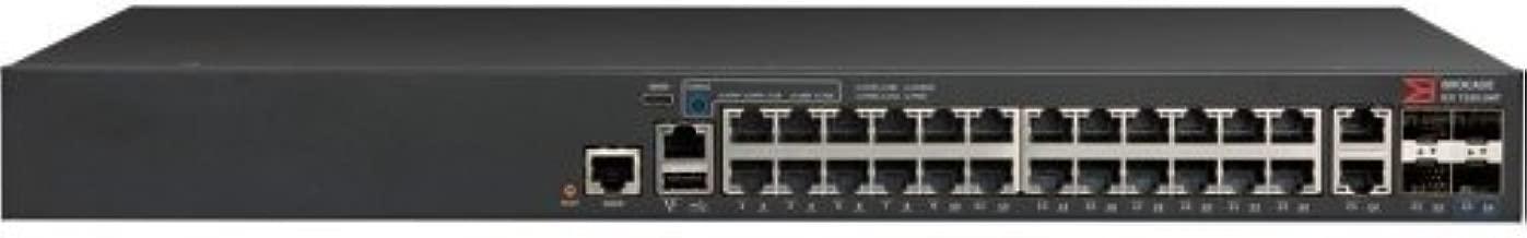 BROCADE ICX 7150-24P - Switch - L3 - managed - 24 x 10/100/1000 (PoE+) + 2 x 10/100/1000 (uplink) + 4 x Gigabit SFP - rack-mountable - PoE+ (370 W) / ICX7150-24P-4X1G /