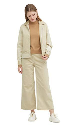 LilySilk Zijden Jas en Pant Brede Been 2st Outfit Corduroy voor Vrouwen en Dames Zachte 100 Zijde Voering