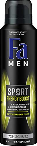 FA Deospray Men Sport Energy Boost Aktivierender Duft, 6er Pack (6 x 150 ml)