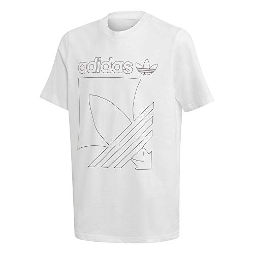 adidas Badge Tee, T-Shirt Unisex-Bambini, White, 910A