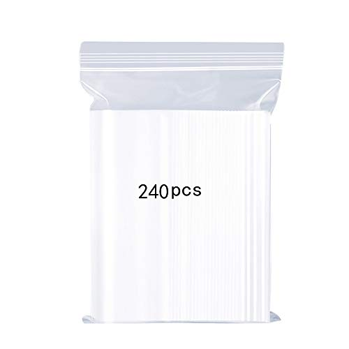 500 clear plastic bags-zip 80 x 120 in 50 µ jewelry pouch
