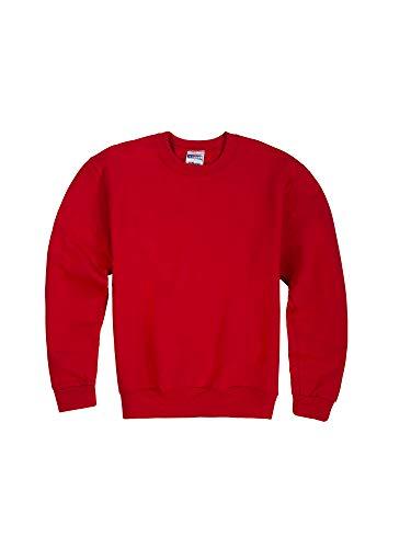 Jerzees Youth Fleece Crew Sweatshirt, True Red, Medium