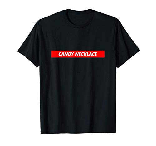 Candy Necklace Red Box Logo Food Funny T-Shirt