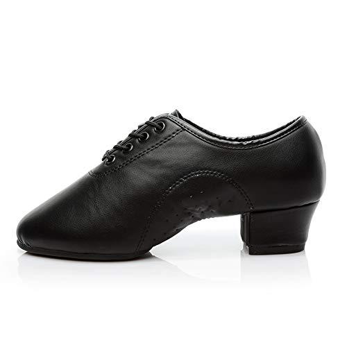 HROYL Zapatos de Baile Latino Hombre Bachata y Salsa Lace up Calzado de Danza para Hombre Jazz Moderno Performance 238-JD EU38