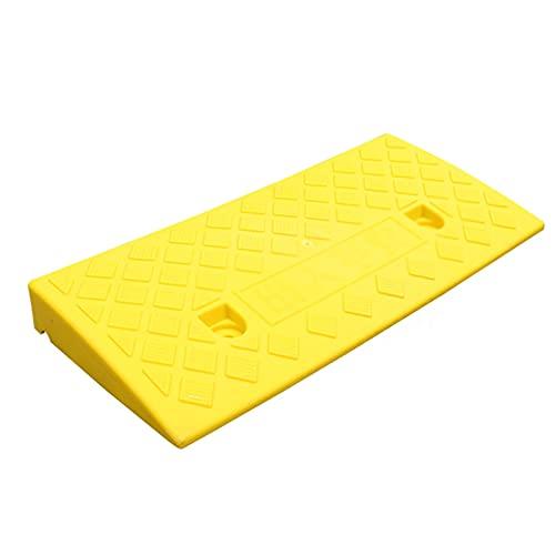 CQILONG Rampa De Umbral, El Plastico Almohadilla Triangular, Fácil De Instalar Carril Sin Ruido No Es Fácil Resbalar Difícil para Caminos Comunitarios 6 Tamaños (Color : Yellow, Size : 50X22X5cm)
